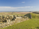 Looking East from Sewingshields Crag, Hadrians Wall, Unesco World Heritage Site, England Photographic Print by James Emmerson
