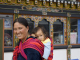 Bhutanese Mother and Child, Trongsa Dzong, Trongsa, Bhutan, Photographic Print