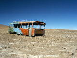 Bus Wreck, Near Chilean Border, Salar De Uyuni, Bolivia, South America Photographic Print by Mark Chivers