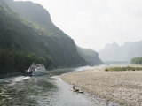 Cruise Boat on Li River Between Guilin and Yangshuo, Guilin, Guangxi Province, China Photographic Print by Angelo Cavalli