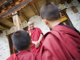 Buddhist Lama Teaching Young Monks, Karchu Dratsang Monastery, Bumthang, Bhutan Photographic Print by Angelo Cavalli
