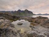 Dusk Over Flakstad, Flakstadoya, Lofoten Islands, Norway, Scandinavia Photographic Print by Gary Cook