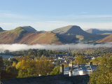 View Over Keswick to Catbells, Causey Pike, Robinson, Lake District, Cumbria, England Photographic Print by James Emmerson