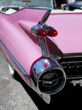Close-Up of Fin and Lights on a Pink Cadillac Car Reproduction photographique par Mark Chivers