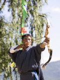 Archery, Bhutan's National Sport, Paro, Bhutan,Asia Photographic Print by Angelo Cavalli