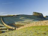 Hadrians Wall with Civilian Gate, a Unique Feature, and Housesteads Fort, Northumbria, England Photographic Print by James Emmerson