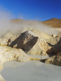 Hot Springs and Mud Pools, Salar De Uyuni, Bolivia, South America Photographic Print by Mark Chivers