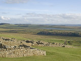 Looking South from Housesteads Roman Fort to Grindon Lough, Hadrians Wall, England Photographic Print by James Emmerson