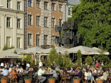 Street Cafe, Doma Square, Riga, Latvia, Baltic States Photographic Print by Gary Cook