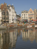 Merchants' Premises by the River, Ghent, Belgium Photographic Print by James Emmerson