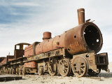 Rusting Locomotive at Train Graveyard, Uyuni, Bolivia, South America Photographic Print by Mark Chivers