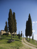 Farmhouse Called Il Belvedere Near San Quirico, Val d'Orcia, Tuscany, Italy Photographic Print by Angelo Cavalli