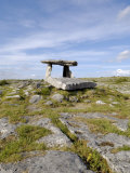 Poulnabrone Dolmen Portal Megalithic Tomb, the Burren, County Clare, Munster, Republic of Ireland Photographic Print by Gary Cook