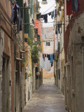 Washing out to Dry, Back Lane off Garibaldi Street, Venice, Veneto, Italy Photographic Print by James Emmerson