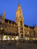 Neues Rathaus (New Town Hall), at Night, Marienplatz, Munich, Bavaria (Bayern), Germany Photographic Print by Gary Cook