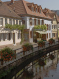 Traditional Houses Alongside Millrace, Pfalzer Wald Wine Area, Germany Photographic Print by James Emmerson