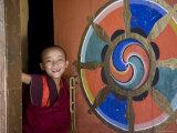 Buddhist Monk, Paro Dzong, Paro, Bhutan Photographic Print by Angelo Cavalli
