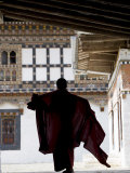 Buddhist Monk, Trongsa Dzong, Trongsa, Bhutan Photographic Print by Angelo Cavalli