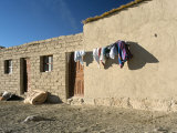 Washing Line Outside Local House, Salar De Uyuni, Bolivia, South America Photographic Print by Mark Chivers