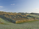Part of Housesteads Roman Fort Looking East, Hadrians Wall, Unesco World Heritage Site, England Photographic Print by James Emmerson