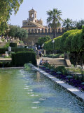 Fountains in Gardens, Cordoba, Andalucia (Andalusia), Spain Photographic Print by James Emmerson
