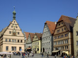 Ratstrinkstube and Town Houses, Marktplatz, Rothenburg Ob Der Tauber, Germany Photographic Print by Gary Cook
