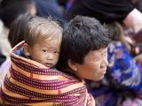 Pilgrims, Buddhist Festival (Tsechu), Trashi Chhoe Dzong, Thimphu, Bhutan Photographic Print by Angelo Cavalli