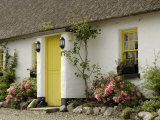Thatched Cottages, Ballyvaughan, County Clare, Munster, Republic of Ireland Photographic Print by Gary Cook