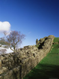 Roman Wall, Walltown Crags, Hadrians Wall, Unesco World Heritage Site, Northumbria, England Photographic Print by James Emmerson