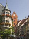 Street Scene with Gate Tower, Meersburg, Baden-Wurttemberg, Lake Constance, Germany Photographic Print by James Emmerson