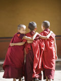 Buddhist Monks, Paro Dzong, Paro, Bhutan Photographic Print by Angelo Cavalli