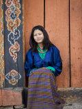 Bhutanese Woman, Jankar, Bumthang, Bhutan Photographic Print by Angelo Cavalli