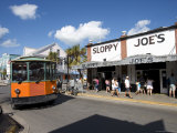 Old Bus in Duval Street, Key West, Florida, USA Photographic Print by Angelo Cavalli
