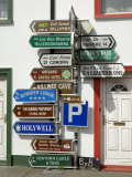 Profusion of Road Signs, Ballyvaughan, County Clare, Munster, Republic of Ireland Photographic Print by Gary Cook