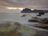 Sunset Over Utakleiv, Vestvagoya, Lofoten Islands, Norway, Scandinavia Photographic Print by Gary Cook