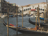 Gondolas, Grand Canal and Rialto Bridge, Venice, Unesco World Heritage Site, Veneto, Italy Photographic Print by James Emmerson