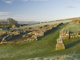 Part of Housesteads Roman Fort Looking West, Hadrians Wall, Unesco World Heritage Site, England Photographic Print by James Emmerson