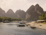 Li River Near Yangshuo, Guilin, Guangxi Province, China Photographic Print by Angelo Cavalli