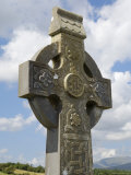 Celtic Style Cross, Graveyard at Burrishoole Abbey, Near Newport, County Mayo, Connacht, Ireland Photographic Print by Gary Cook