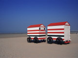 Beach Huts, Blankenberge, Belgium Photographic Print by James Emmerson