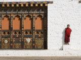 Buddhist Monk, Punakha Dzong, Punakha, Bhutan Photographic Print by Angelo Cavalli