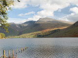 Lake Wastwater with Scafell Pike 3210Ft, and Scafell 3161Ft, Wasdale Valley, Cumbria Photographic Print by James Emmerson