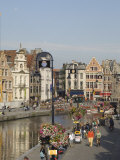 View of the Riverside with Merchants Premises, Ghent, Belgium Photographic Print by James Emmerson