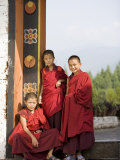 Buddhist Monks, Punakha Dzong, Punakha, Bhutan Photographic Print by Angelo Cavalli