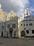 Architecture of the Old Town (The Three Brothers), Riga, Latvia, Baltic States Photographic Print by Gary Cook