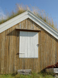 Turf Roofed Wooden Hut, Kvaloya Island, West of Tromso, Norway, Scandinavia Photographic Print by Gary Cook