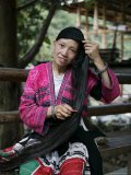 Woman of Yao Minority (Longhair Tribe), Longsheng Terraced Ricefields, Guilin, China Photographic Print by Angelo Cavalli