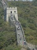 The Great Wall at Mutianyu, Unesco World Heritage Site, Near Beijing, China Fotoprint van Angelo Cavalli