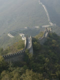 The Great Wall at Mutianyu, Unesco World Heritage Site, Near Beijing, China Fotoprint van Angelo Cavalli