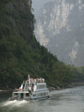 Cruise Boat Between Guilin and Yangshuo, Li River, Guangxi Province, China Photographic Print by Angelo Cavalli